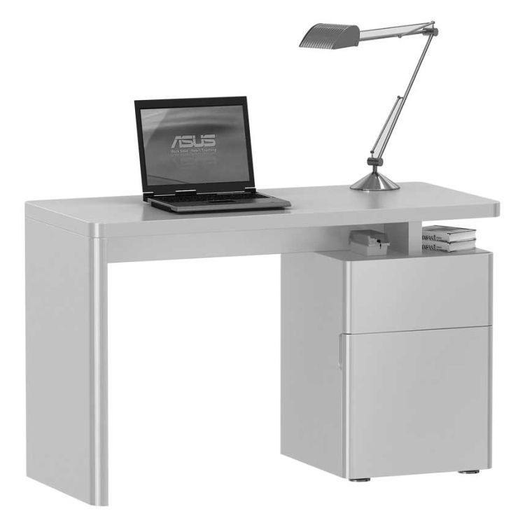 Schreibtisch weis hochglanz roller for Schreibtisch net
