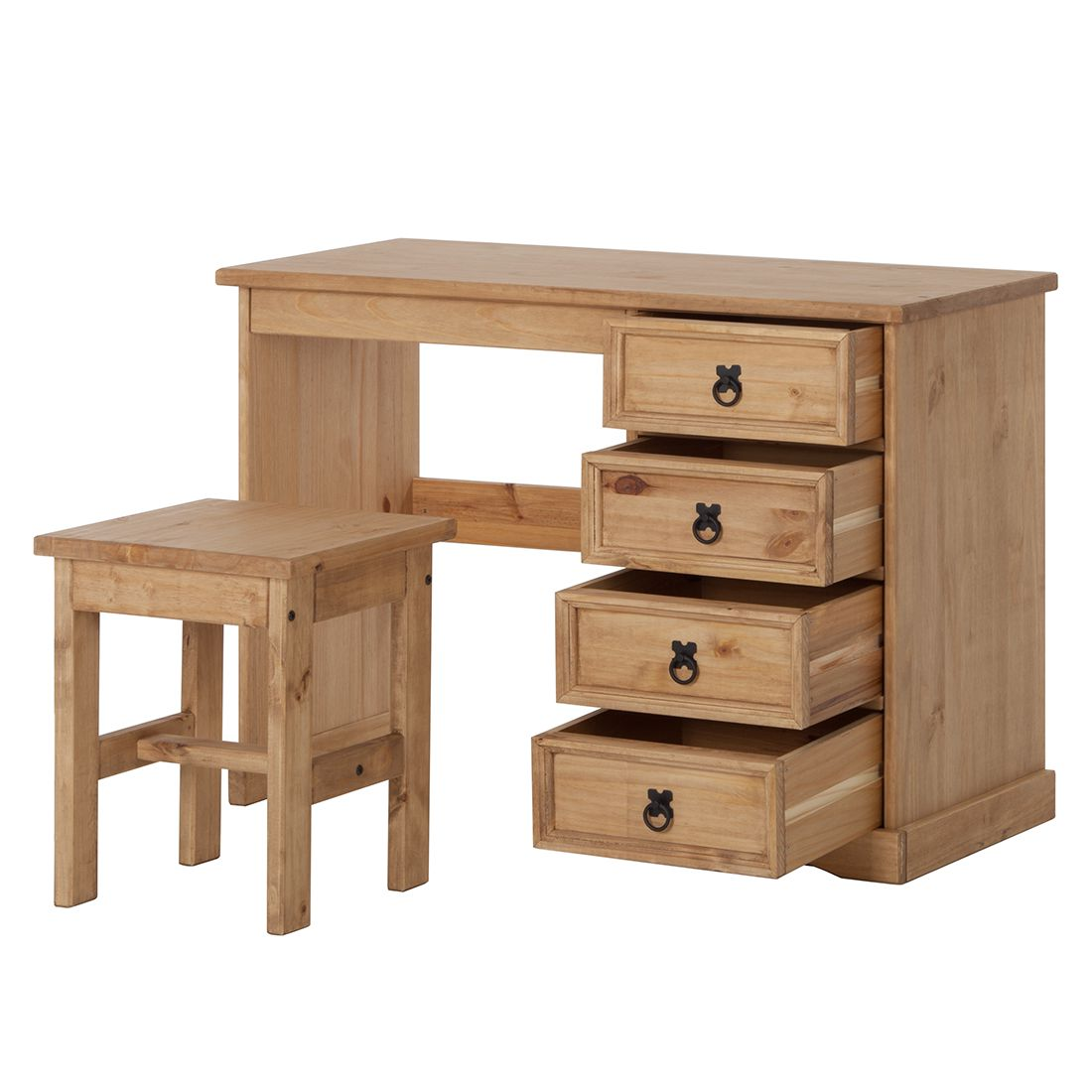 schreibtisch set finca rustica i kiefer b rotisch computertisch ebay. Black Bedroom Furniture Sets. Home Design Ideas