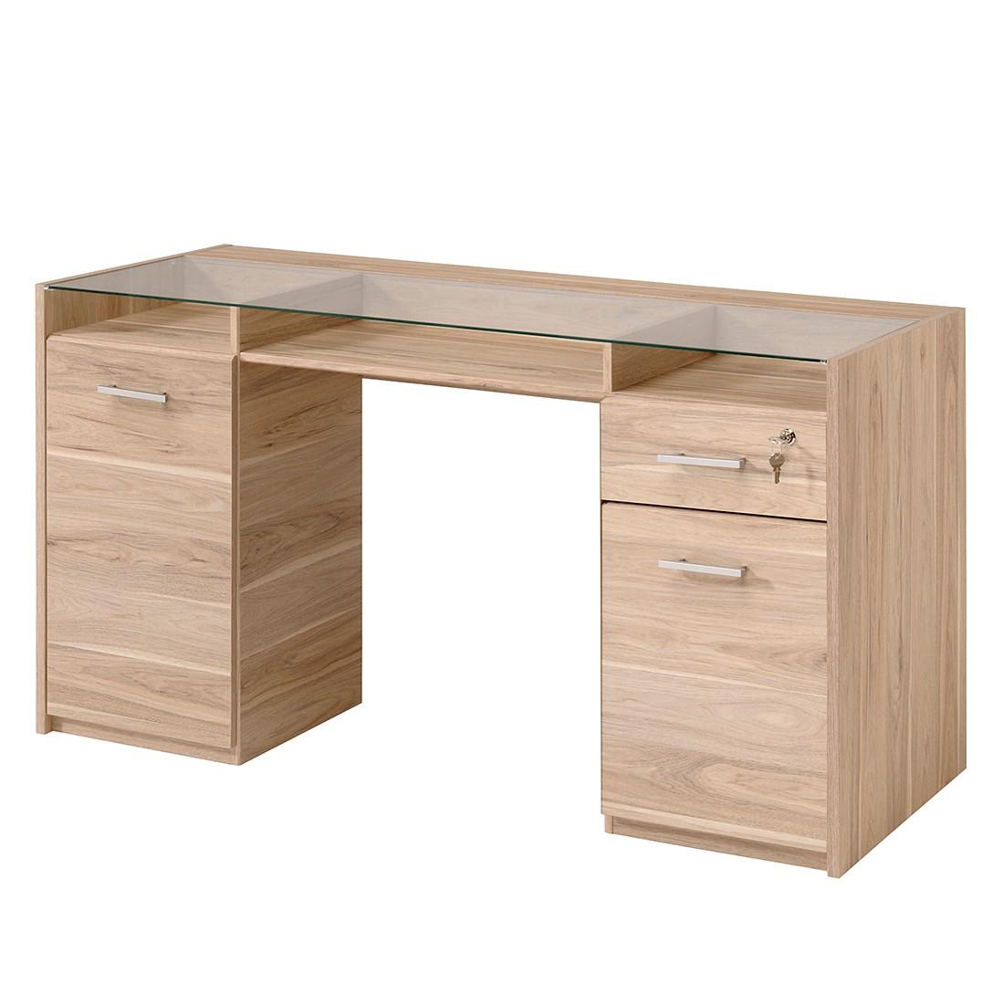Image bureau sophia dakota eikenhouten look parisot meubles for Meubles bureau 24