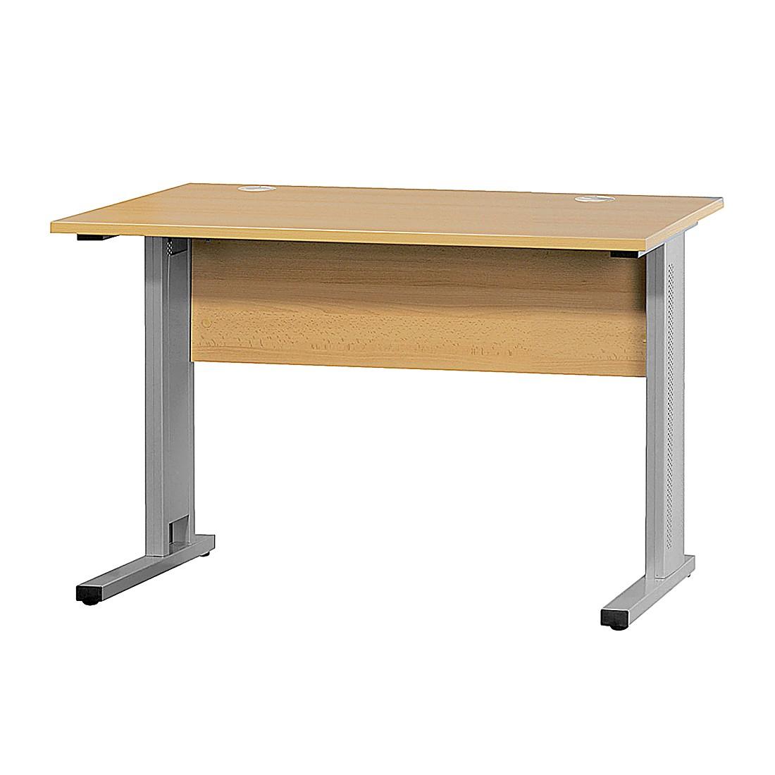Redline schreibtisch rechteck trend buche dekor 160x80cm for Schreibtisch buche 120 x 60