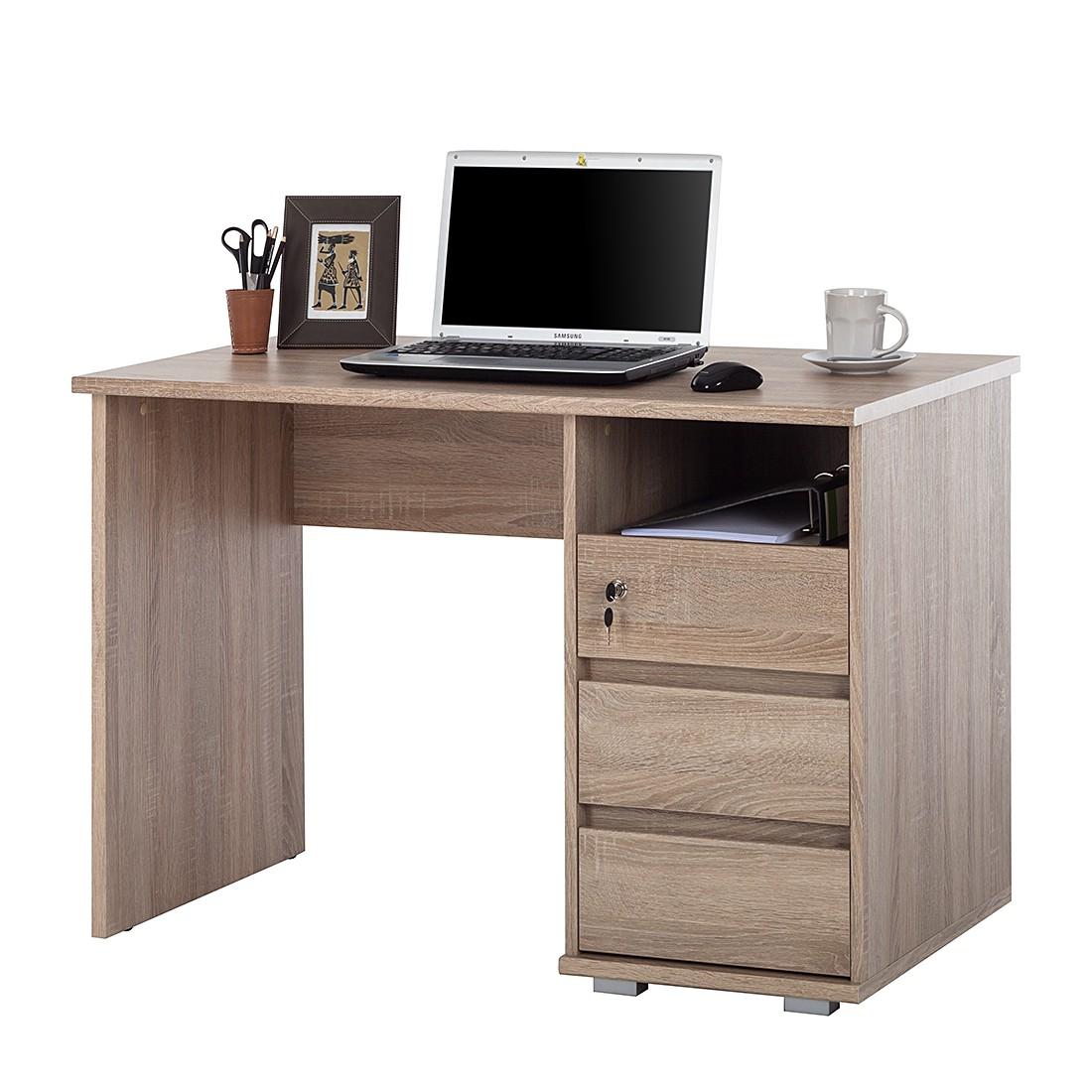 Schreibtisch wilson sonoma eiche dekor ebay for Computer schreibtisch eiche