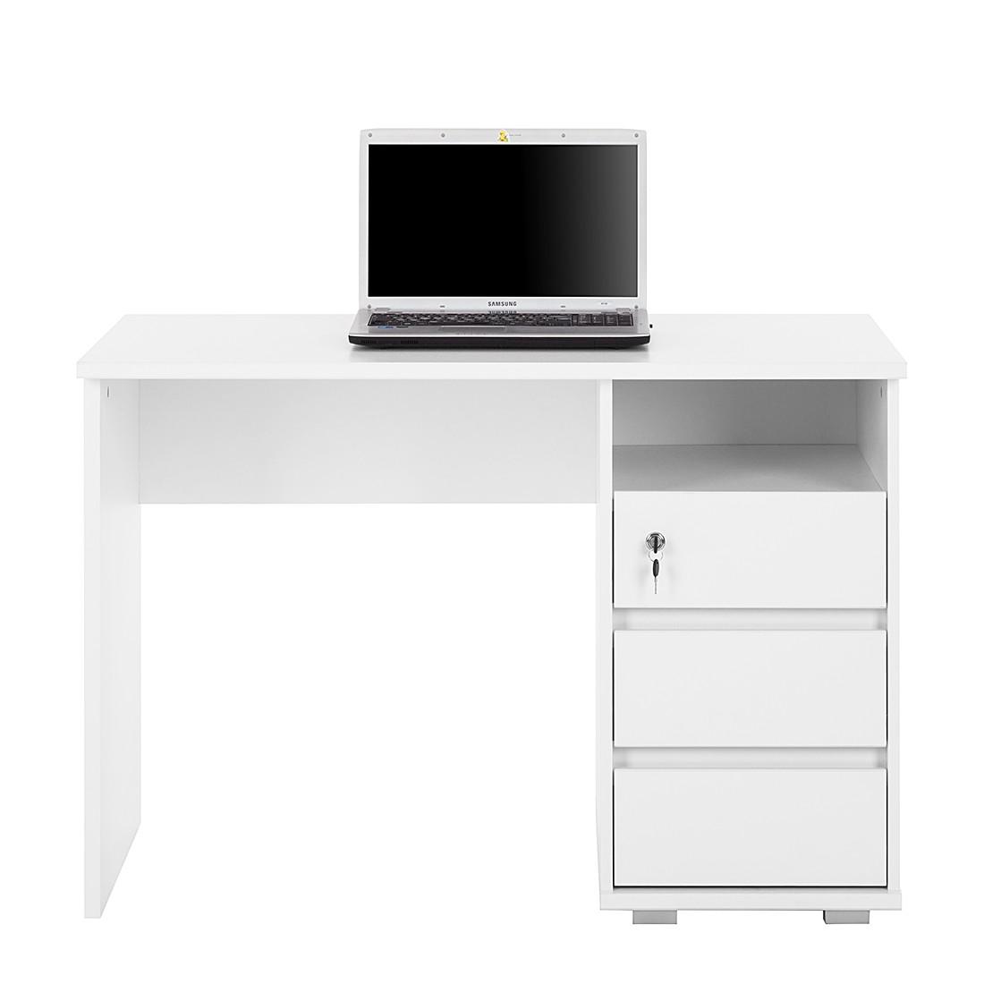 Pc Tisch Weiß Ikea ~  Wilson Weiß BÜROTISCH ARBEITSTISCH COMPUTERTISCH PC TISCH  eBay