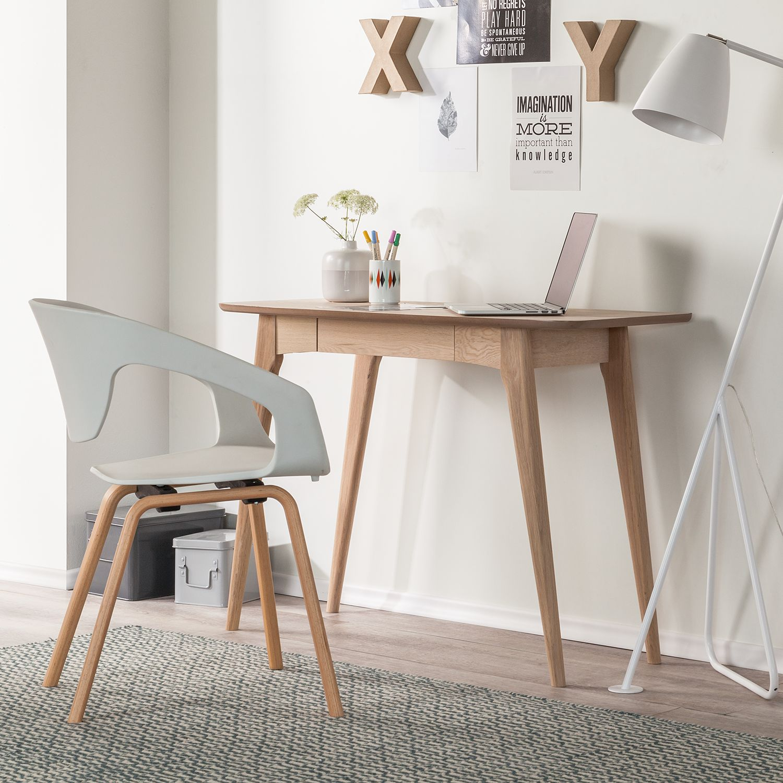 Schreibtisch eiche massiv b rotisch arbeitstisch for Schreibtisch massiv eiche