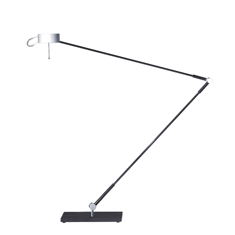 Schreibtischleuchte Absolut ● mit Standfuß ● Stahl ● Alu Matt- Absolut Lighting