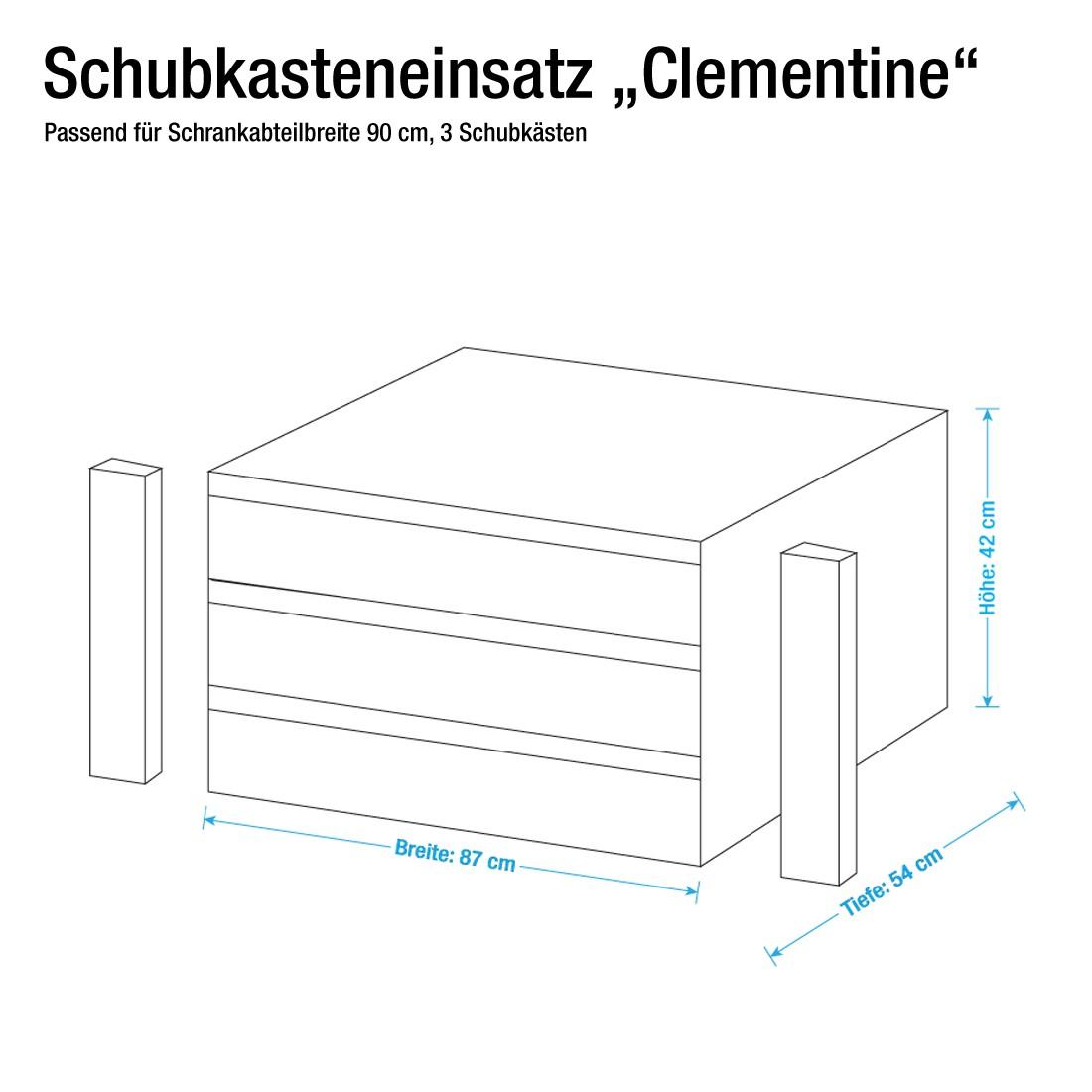 90er Schubkasteneinsatz (Schubkasteneinsatz Clementine für Fach 90cm breit)