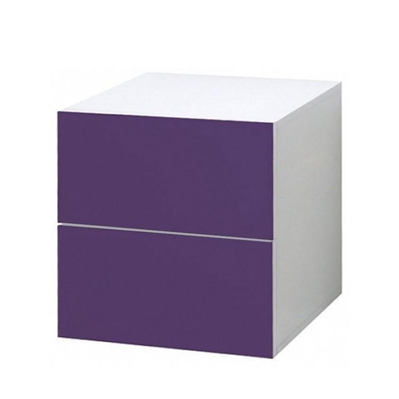 Schubladencontainer mit Glasfront – Lila, Leonardo bestellen