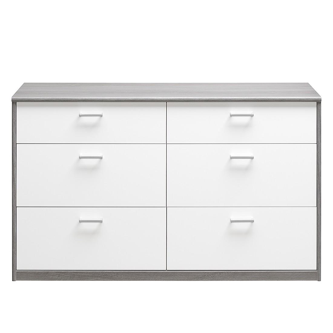 schubladenkommode soft plus iii silbereiche dekor hochglanz wei cs schmal jetzt kaufen. Black Bedroom Furniture Sets. Home Design Ideas