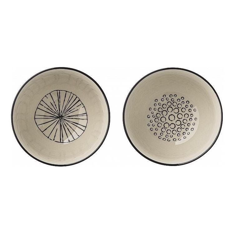 Schüssel Julie – Porzellan – klein – Ausführung: Linien, Bloomingville günstig kaufen