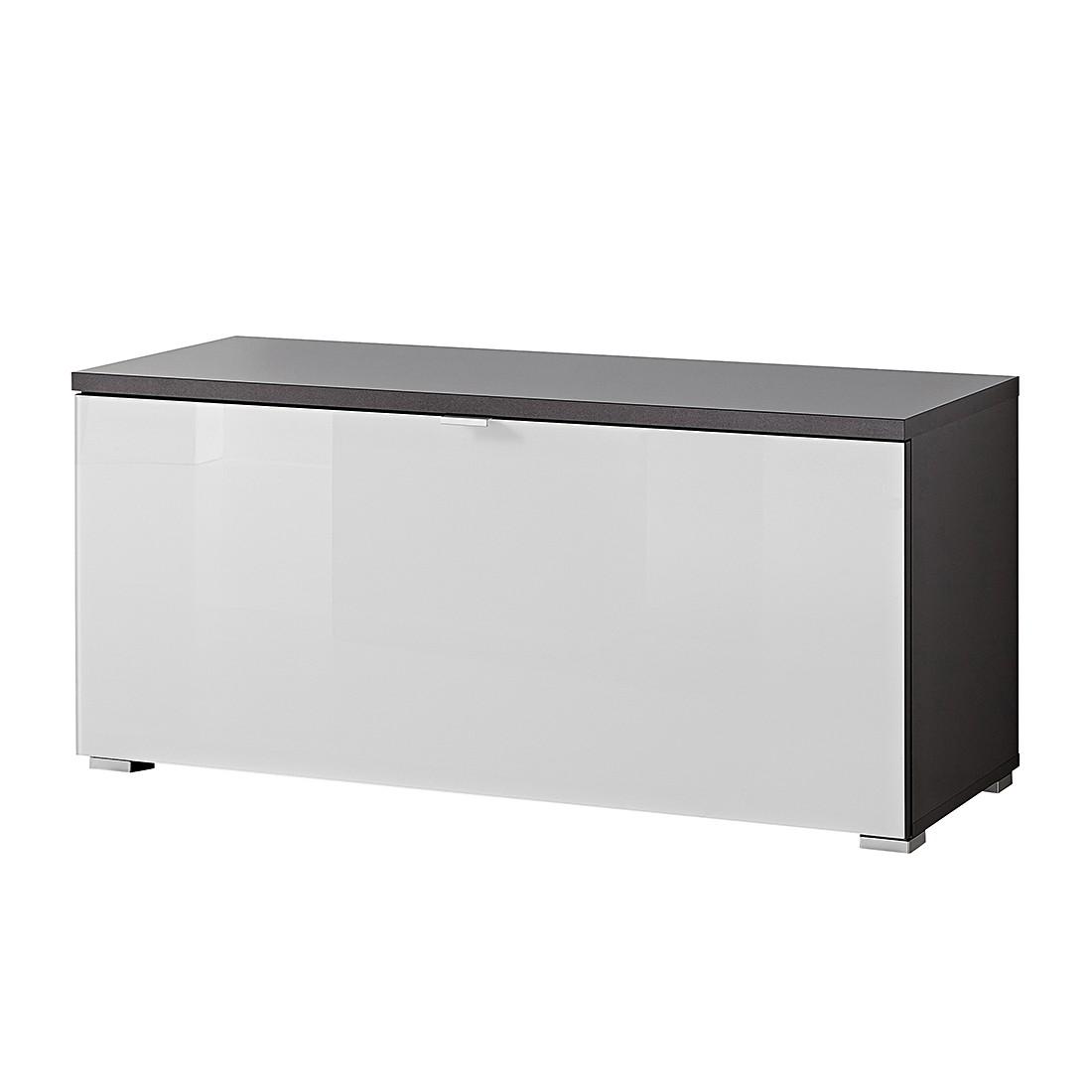 Schuhbank Alada – Anthrazit/Glas Weiß, Top Square günstig kaufen