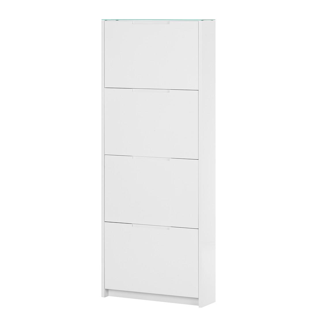 Schuhkipper Glaze IV – Hochglanz Weiß, roomscape günstig