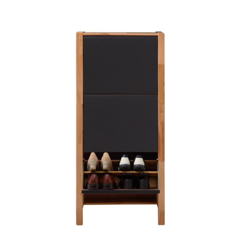 schuhkommode ayana h he 128 cm kernbuche massiv schwarze front. Black Bedroom Furniture Sets. Home Design Ideas