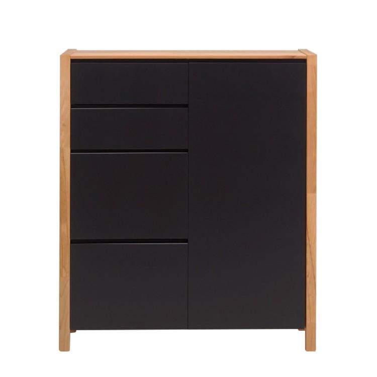 schuhkommode ayana mit t r und vier schubladen massivholz birke massiv. Black Bedroom Furniture Sets. Home Design Ideas