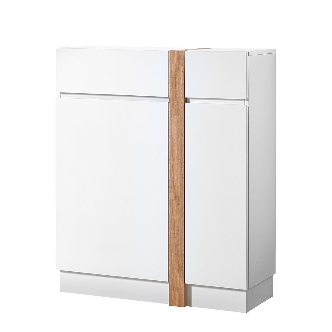 Schuhkommode Corredor – Supermatt Weiß/Eiche, loftscape günstig bestellen
