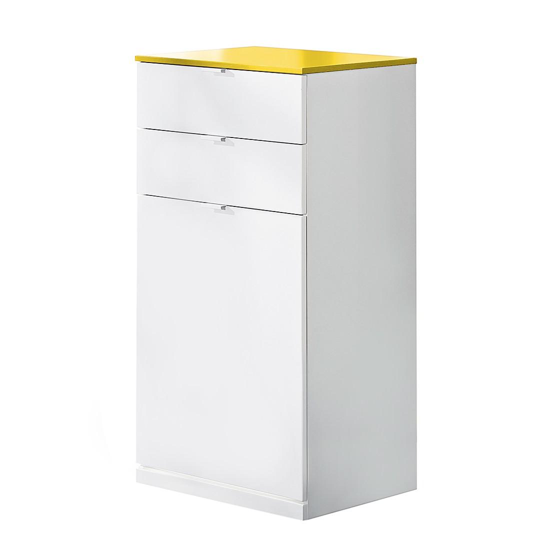 Schuhkommode Vip II - Weiß/Gelb
