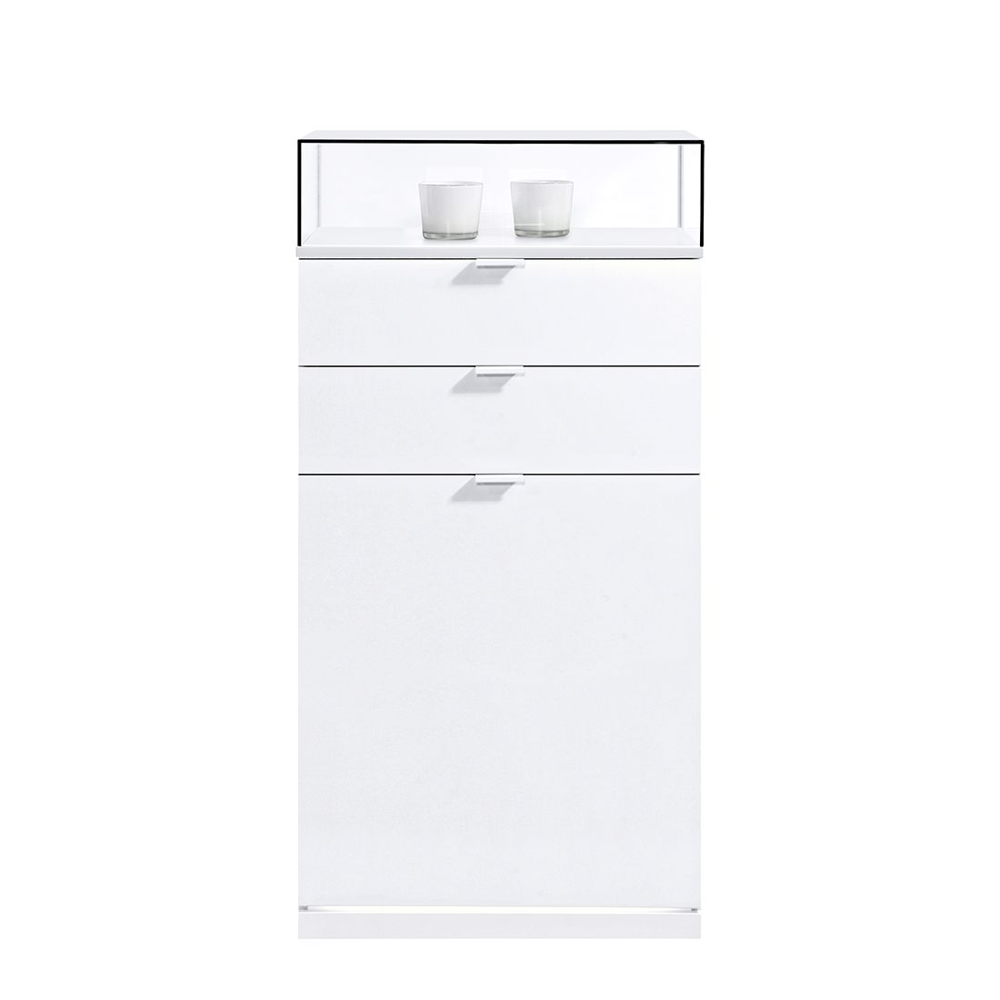 Schuhkommode VIP II - Weiß (Mit LED-Beleuchtung)