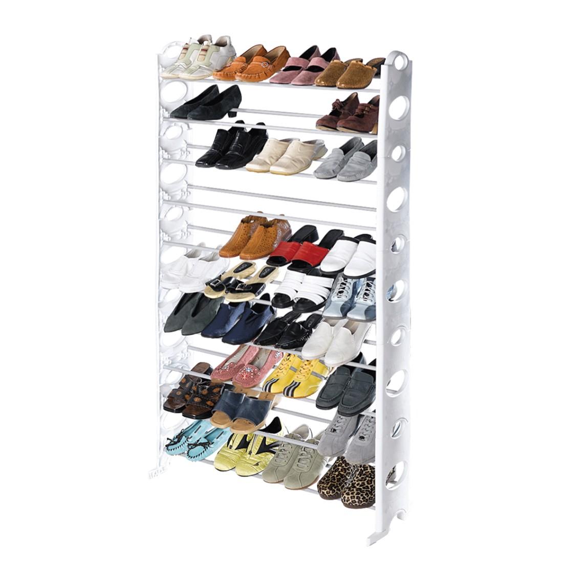 Schuhregal - Kunststoff - Weiß