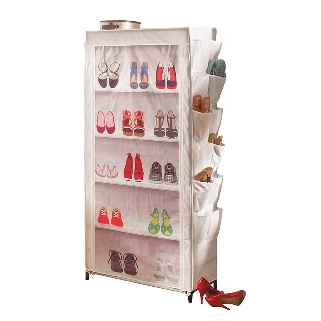 Schuhregal Shoes – Metall/Vlies – Weiß, PureDay jetzt bestellen