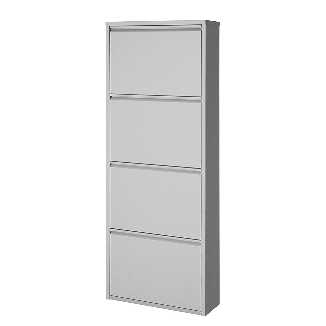 schuhschrank cabinet 4 klappen grau schuhkommode. Black Bedroom Furniture Sets. Home Design Ideas