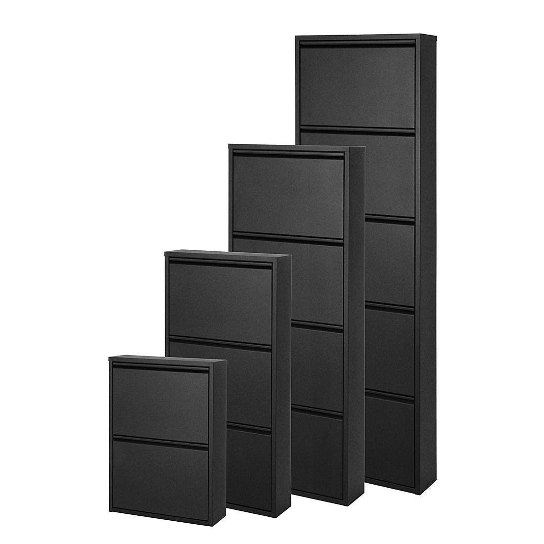 4e291a4431d913 Schuhschrank Cabinet - Metall Schwarz - 5 Klappen