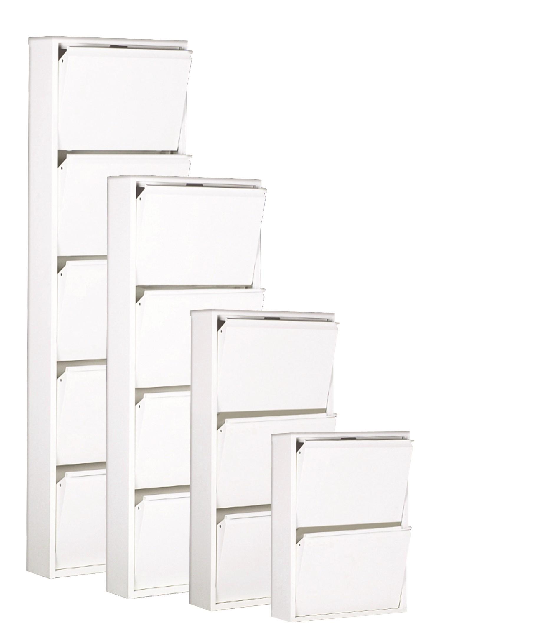 Schuhschrank Cabinet – Weiß – 3 Klappen – Höhe 102.5 cm, Magazin-Möbel jetzt bestellen