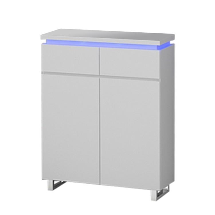 EEK A+, Schuhschrank Emblaze II (inkl. Beleuchtung) – Hochglanz Weiß, loftscape günstig bestellen