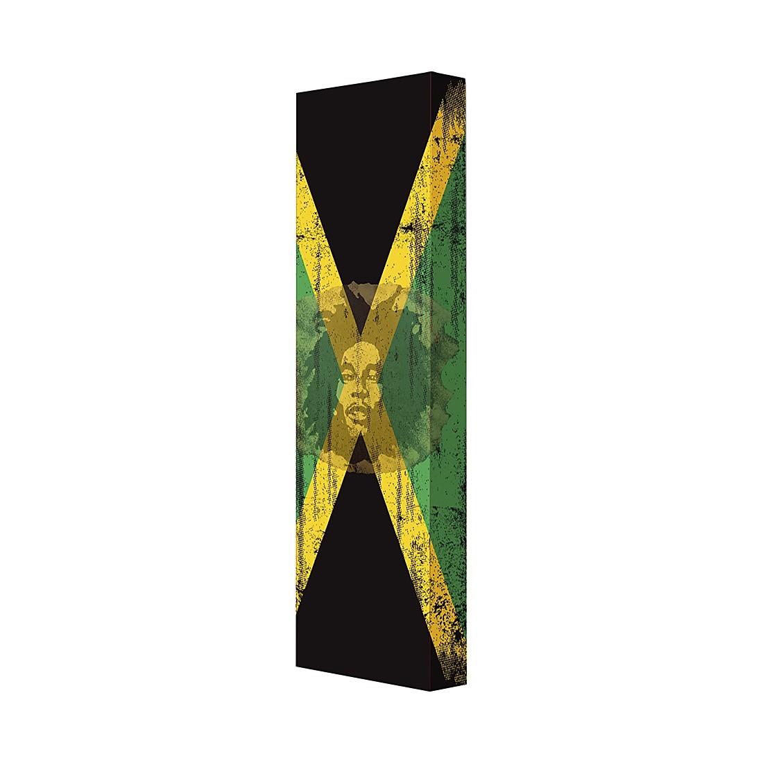Schuhschrank Jamaika – Weiß/Bob Marley Motiv, Magazin-Möbel jetzt kaufen
