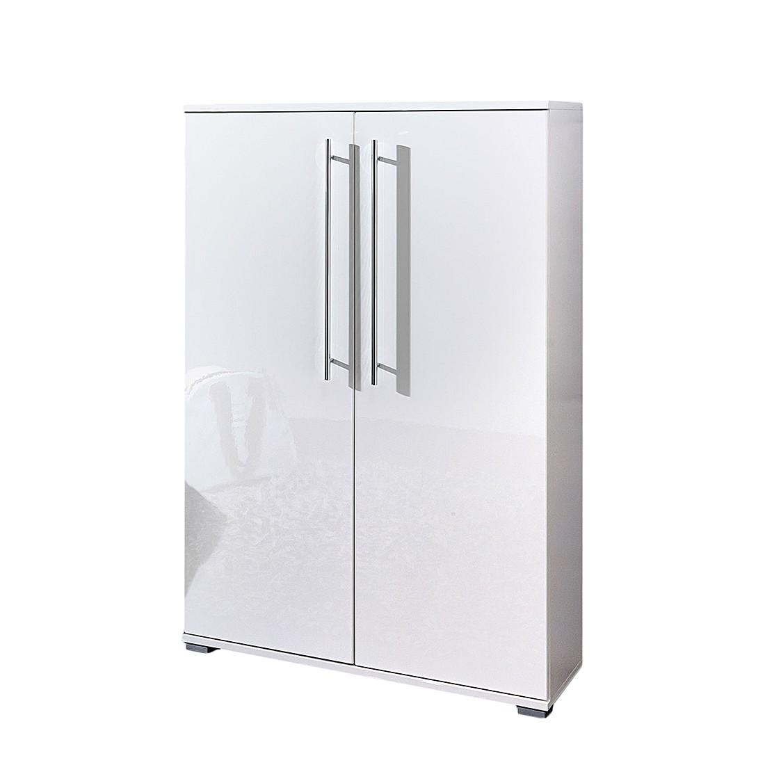 schuhschrank linear hochglanz wei top square g nstig. Black Bedroom Furniture Sets. Home Design Ideas