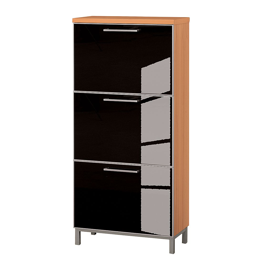schuhschrank alves iv kernbuche glas anthrazit tiefe 30 cm f r. Black Bedroom Furniture Sets. Home Design Ideas