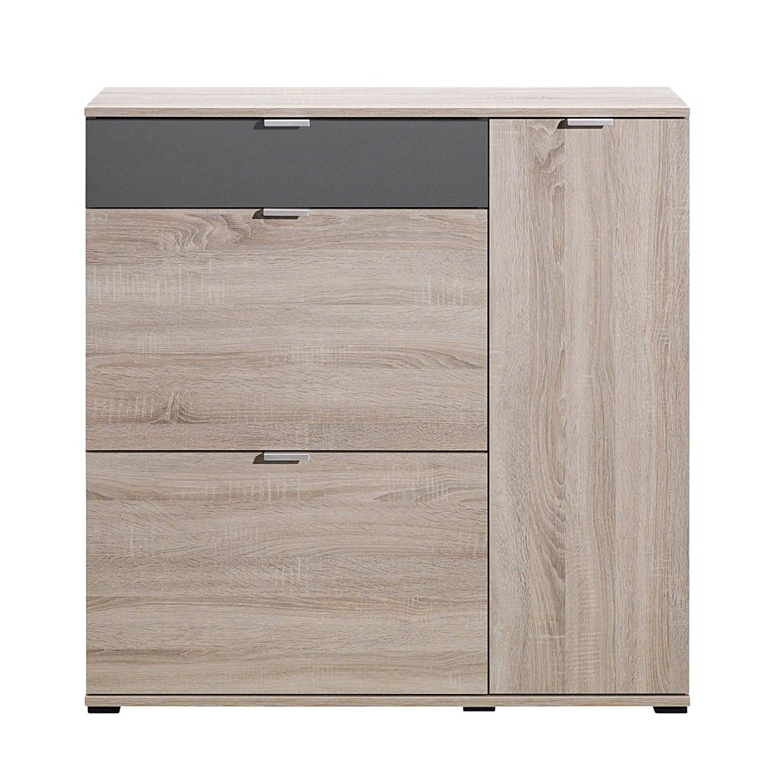 schuhschrank schuhsta iii eiche dekor graphit cs schmal. Black Bedroom Furniture Sets. Home Design Ideas