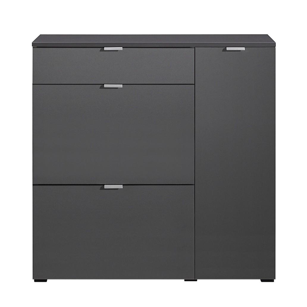 cs schmal schuhschrank schuhsta iii graphit schuhkommode. Black Bedroom Furniture Sets. Home Design Ideas