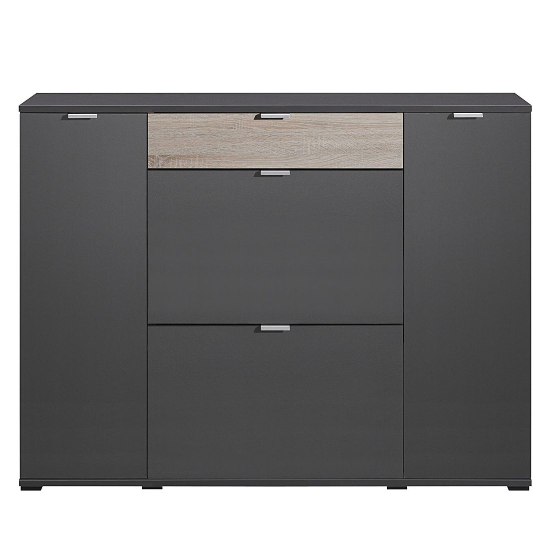 schuhschrank schuhsta iv graphit eiche dekor. Black Bedroom Furniture Sets. Home Design Ideas