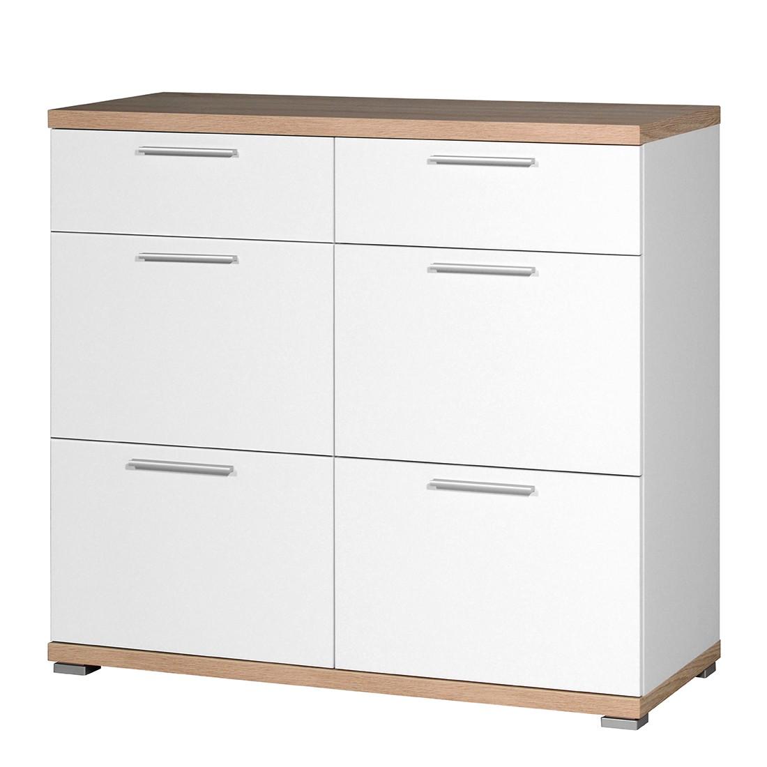 schuhschrank texture wei sonoma eiche dekor top square. Black Bedroom Furniture Sets. Home Design Ideas