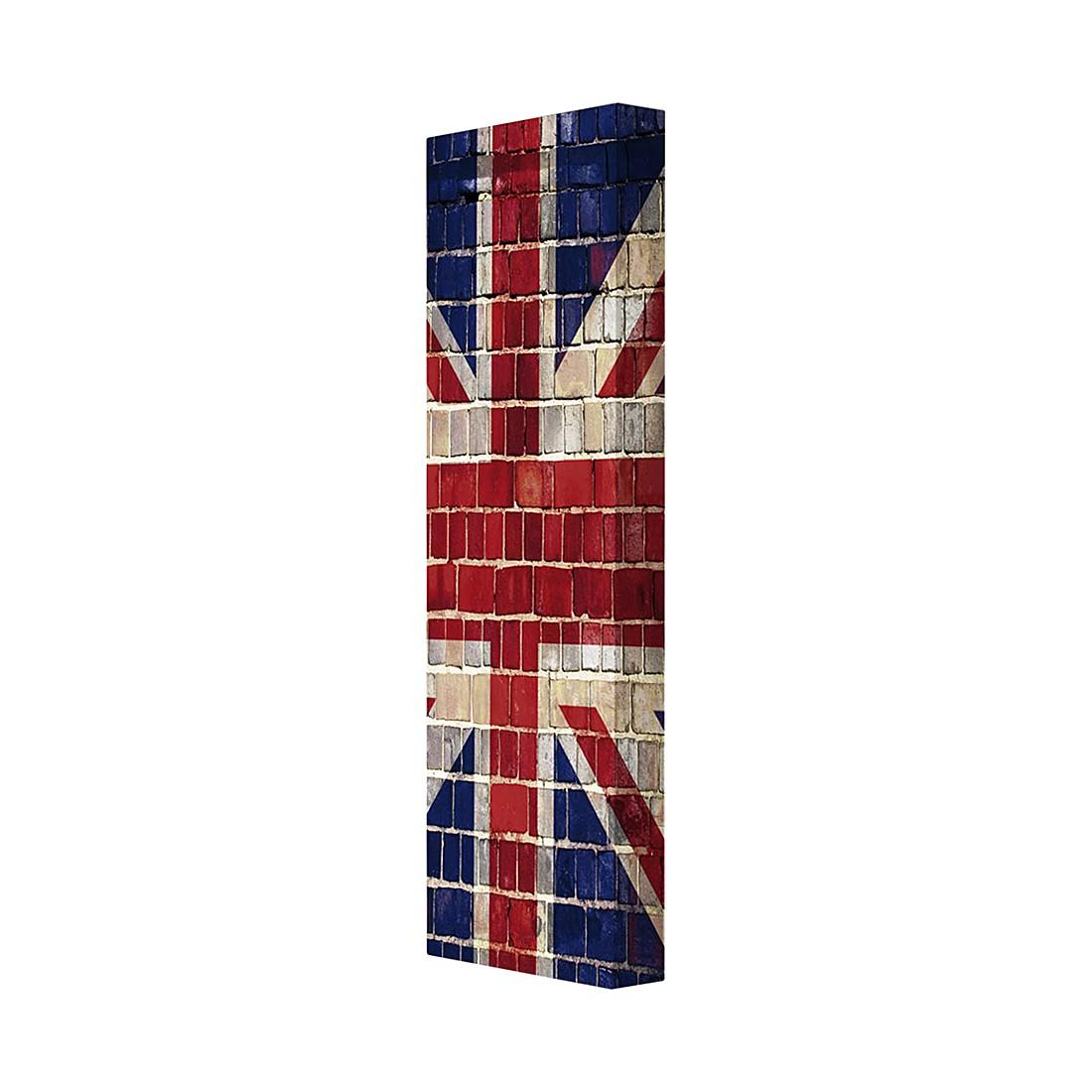 Schuhschrank UK – Backsteinoptik mit Union Jack Motiv, Magazin-Möbel online bestellen