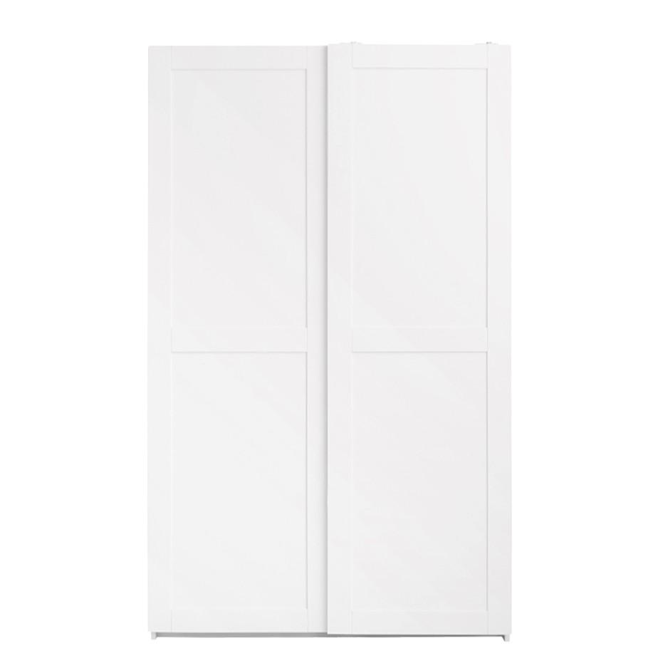 Schwebetürenschrank Alba - Weiß lackiert - Kiefer Massivholz