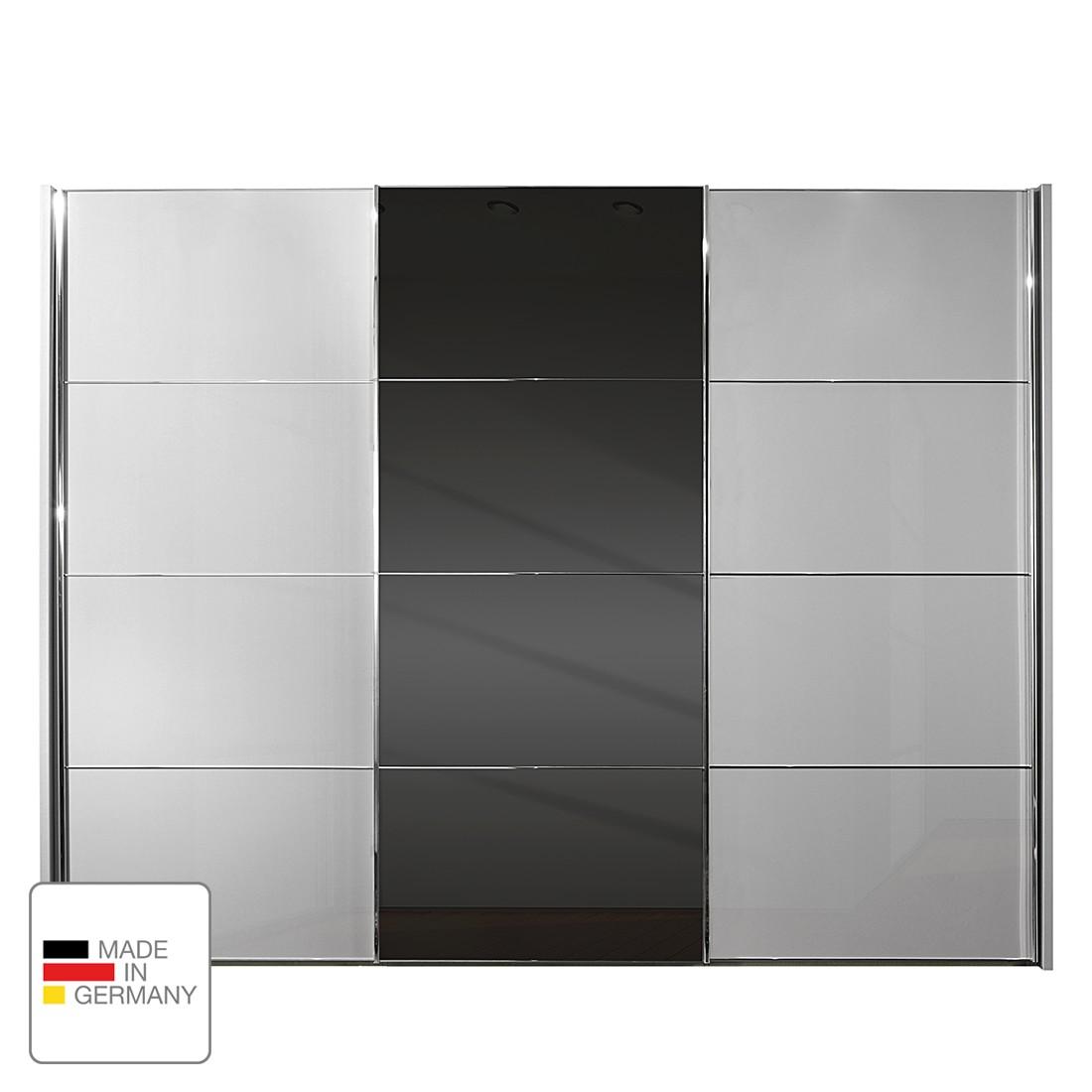 Schwebetürenschrank Amsterdam - Silber/Graphit - Ohne Beleuchtung - 200 cm (2-türig) - 236 cm, Althoff