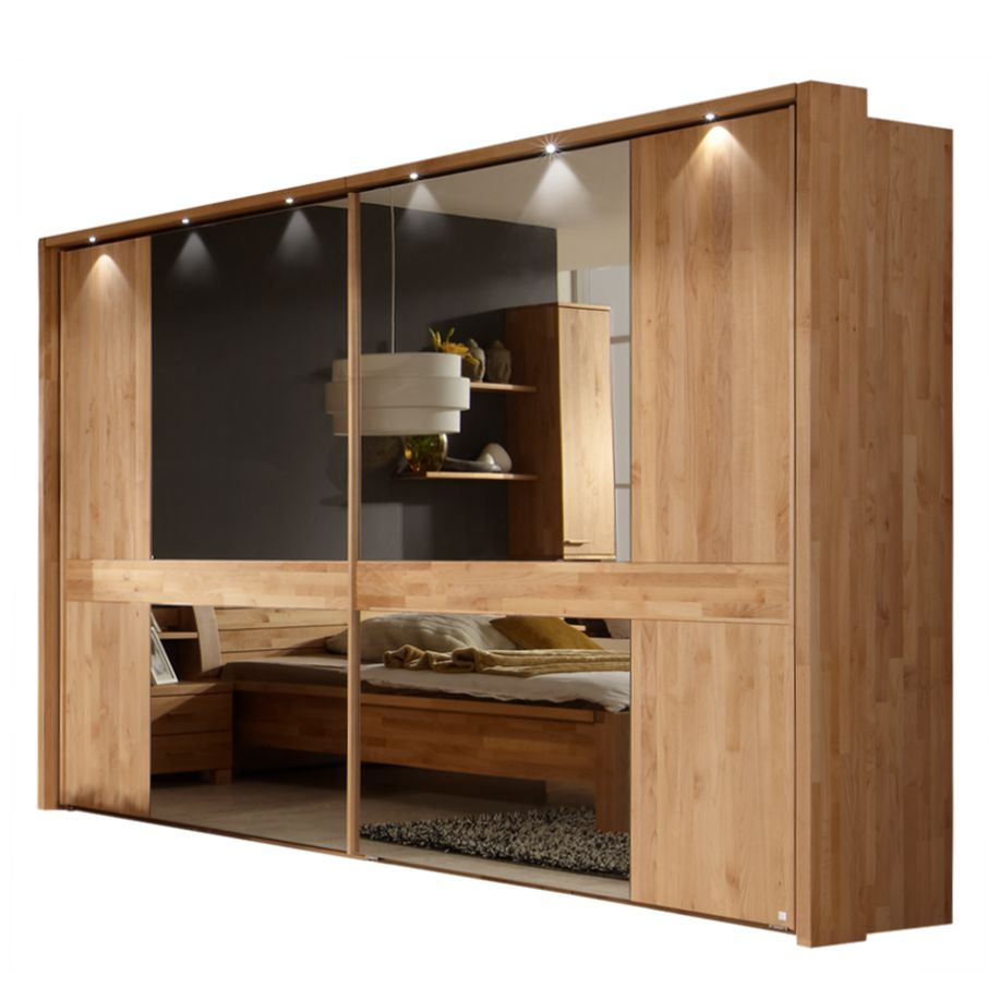 schwebet renschrank bastion erle massivholz beleuchtung optional ausf hrung breite 300 cm. Black Bedroom Furniture Sets. Home Design Ideas
