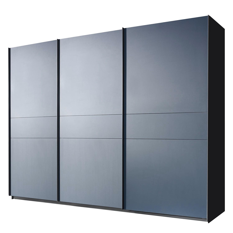 Schwebetürenschrank Bayamo - Graphit/Mattglas Blau - 360 cm (3-türig) - 236 cm, Rauch Select