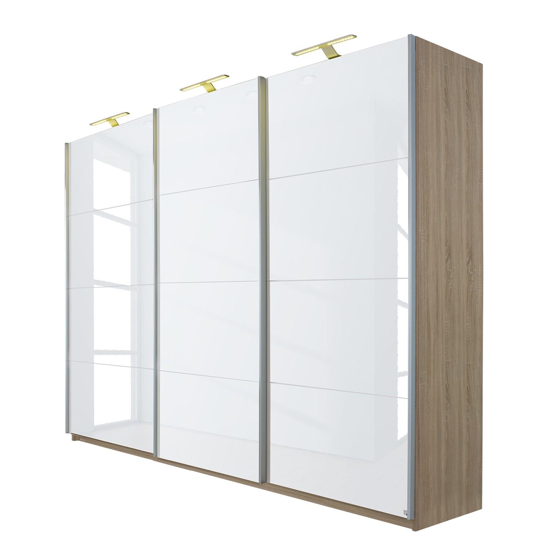 schwebet renschrank beluga plus hochglanz wei eiche sonoma dekor 360 cm 3 t rig 236. Black Bedroom Furniture Sets. Home Design Ideas