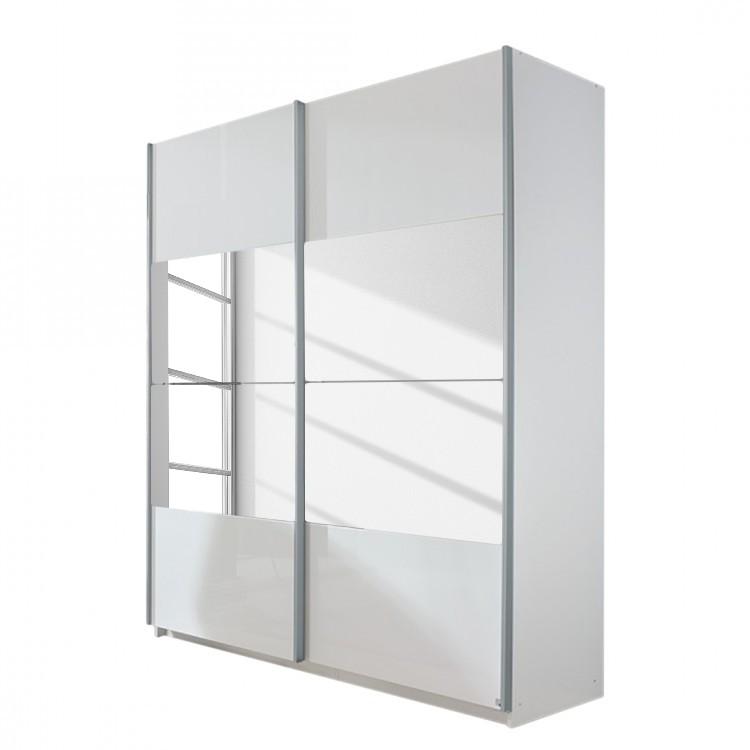 Schwebetürenschrank Beluga-Plus - Alpinweiß/Hochglanz Weiß - 360 cm (3-türig) - 223 cm, Rauch Select
