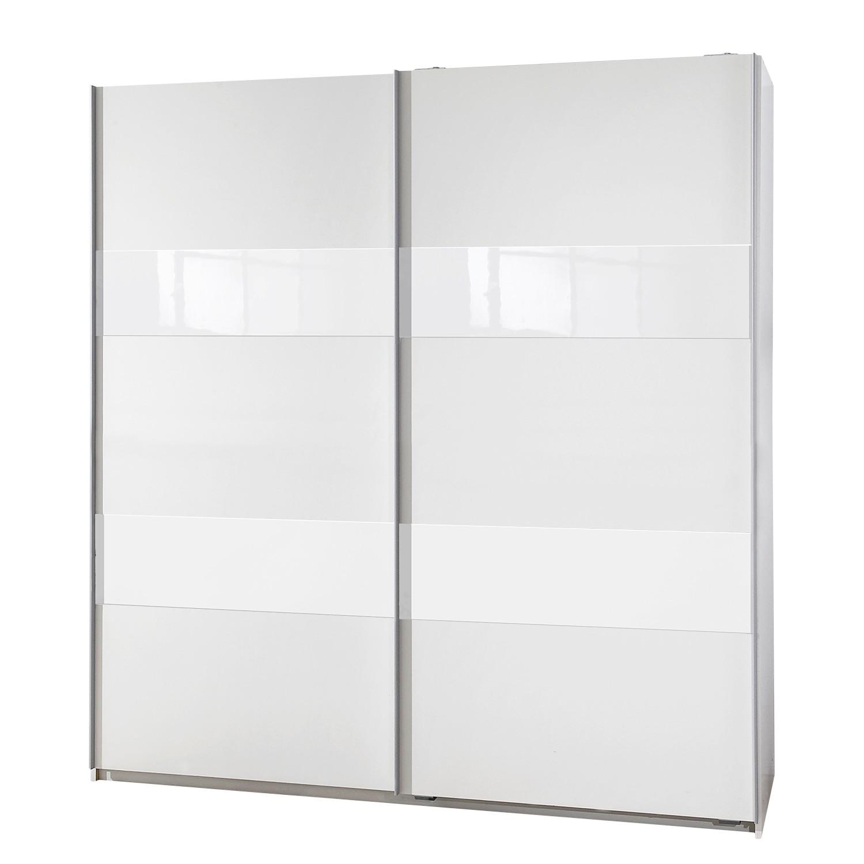 Schwebetürenschrank Tyrawley II – Alpinweiß / Glas Weiß – 135 cm (2-türig), Wimex günstig online kaufen
