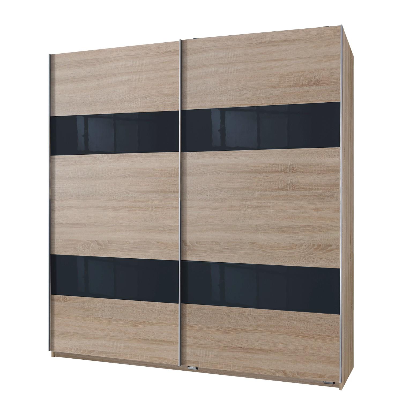 Schuifdeurkast Chess II - Grof gezaagd eikenhouten look - 180cm (2-deurs), Wimex