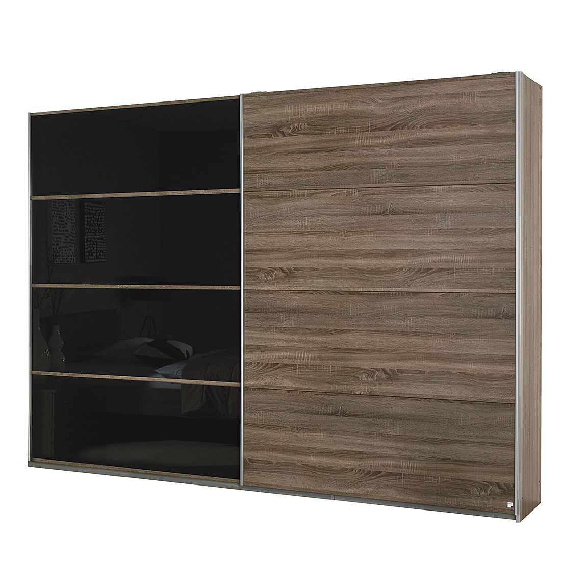 schwebet renschrank classic oak eiche havanna glas basalt 226cm breit. Black Bedroom Furniture Sets. Home Design Ideas
