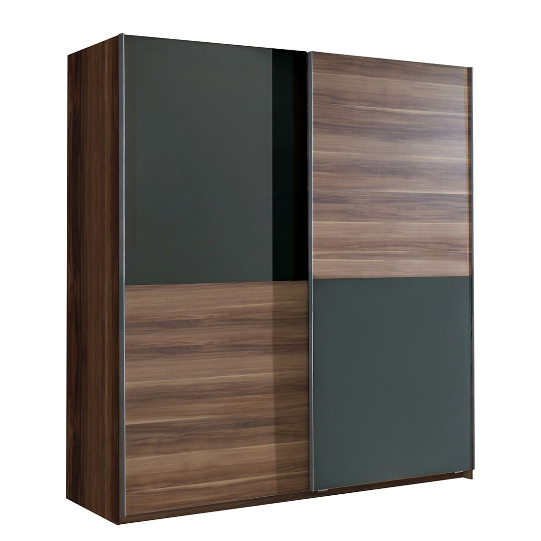 schwebet renschrank clay nussbaum anthrazit schrankbreite 135 cm 2 t rig. Black Bedroom Furniture Sets. Home Design Ideas