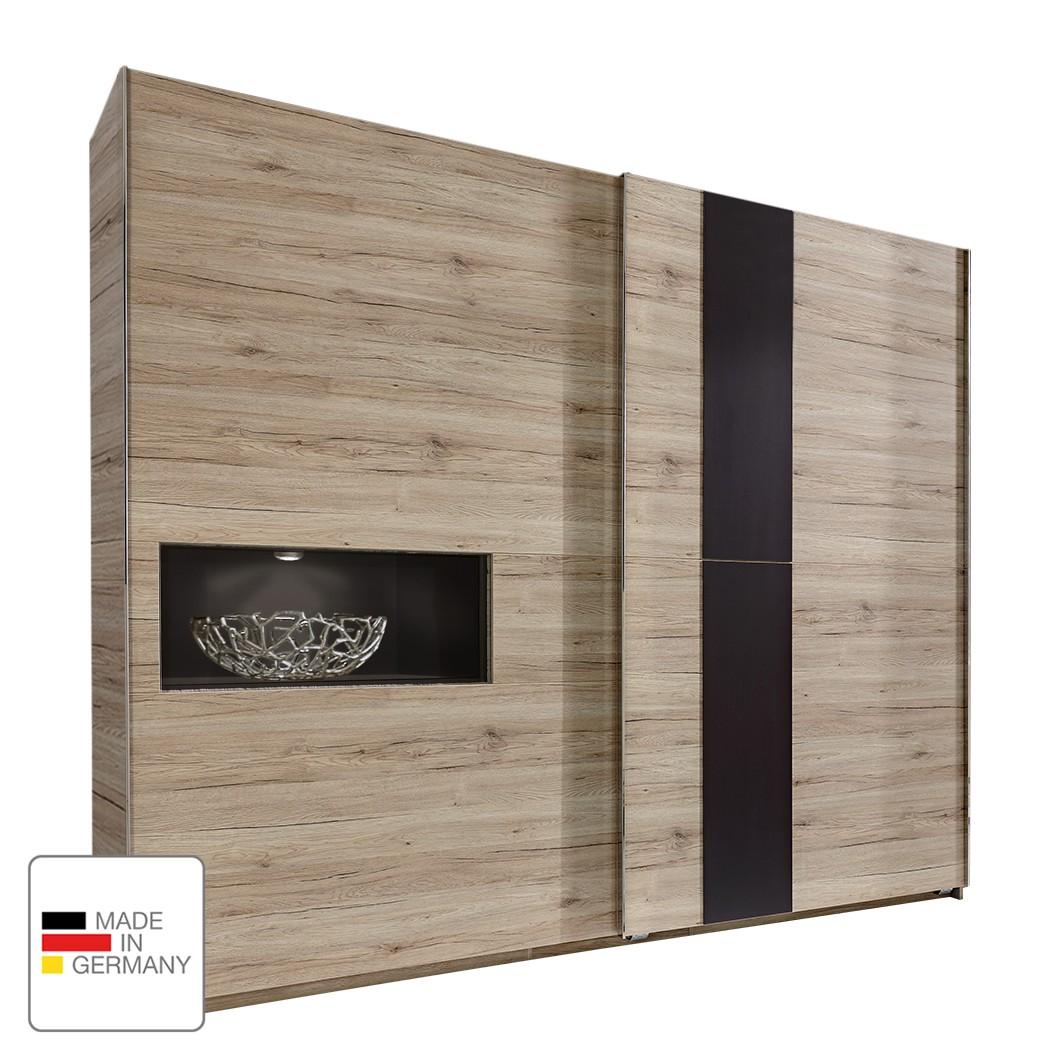 Schwebetürenschrank Diva – Eiche Sanremo Dekor – 250 cm (2-türig) – 1 Fach – Ohne Passpartoutrahmen, fresh to go online bestellen