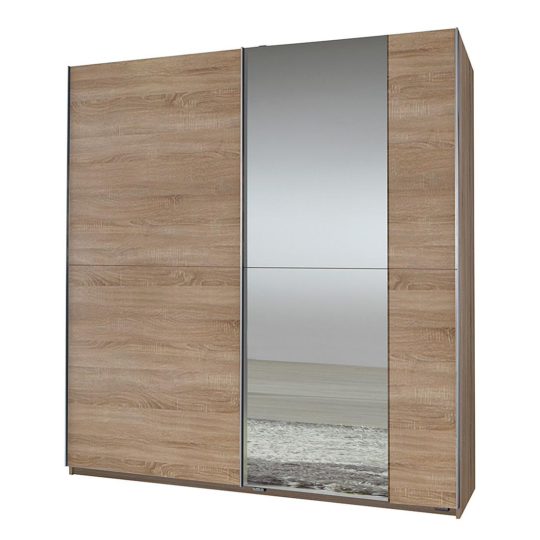 Schwebetürenschrank Fashion Star - Eiche sägerau - Spiegel (Schwebetürenschrank Fashion Star - mit einer Spiegelfront - Eiche sägerau)