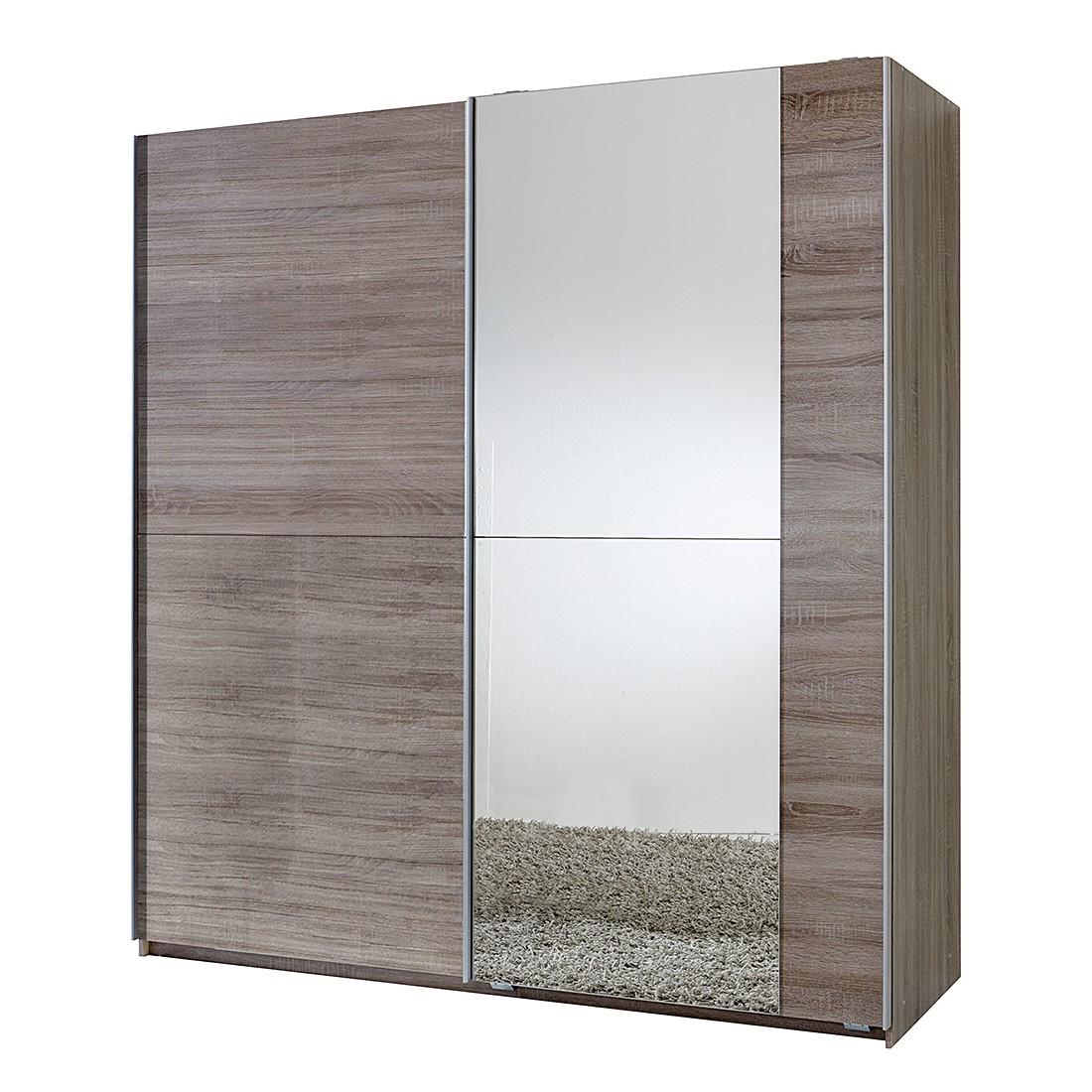 Schwebetürenschrank Fashion Star - Montana Eiche - Spiegel (Schrank mit einem Spiegel)