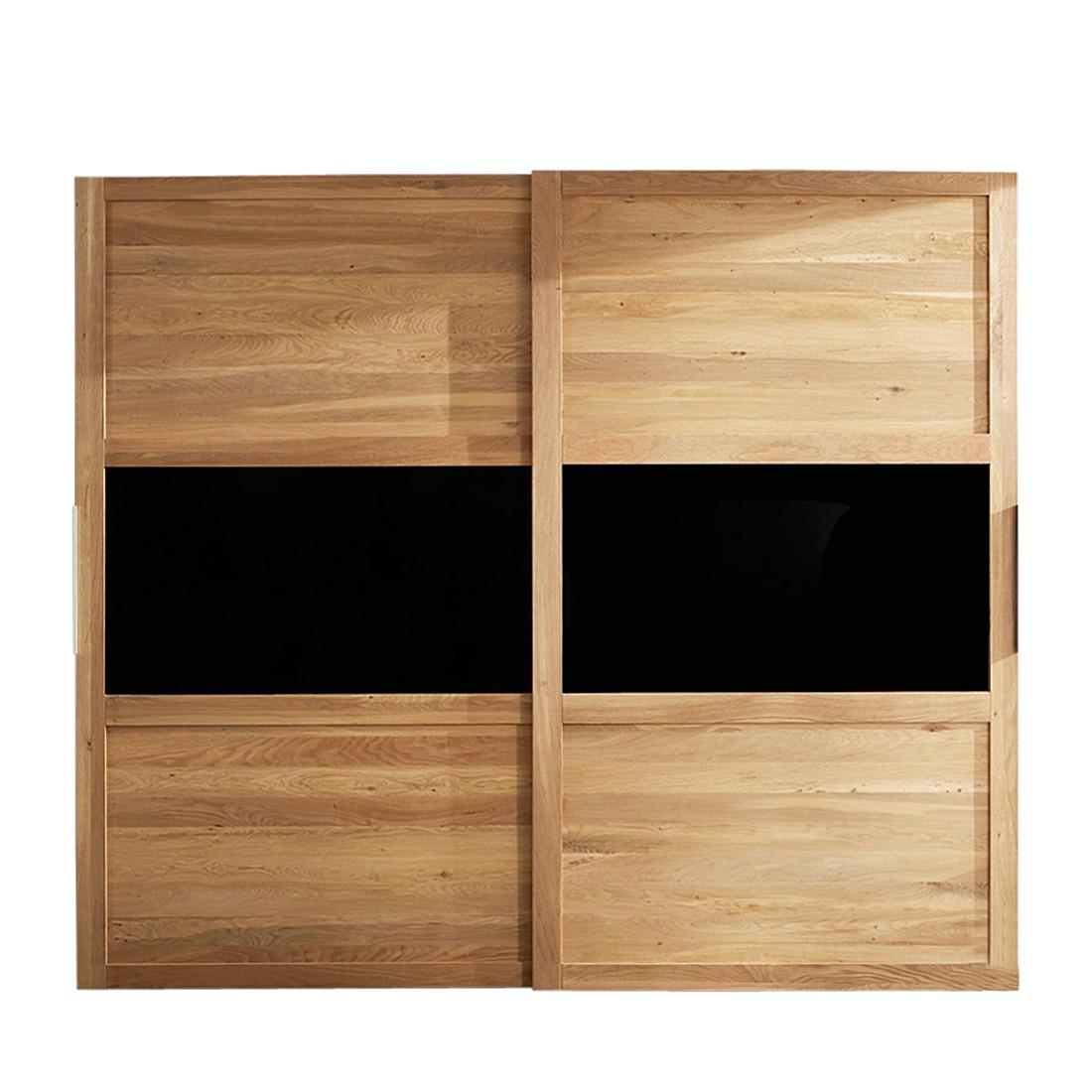schwebet renschrank furios eiche teilmassiv glas ge lt. Black Bedroom Furniture Sets. Home Design Ideas