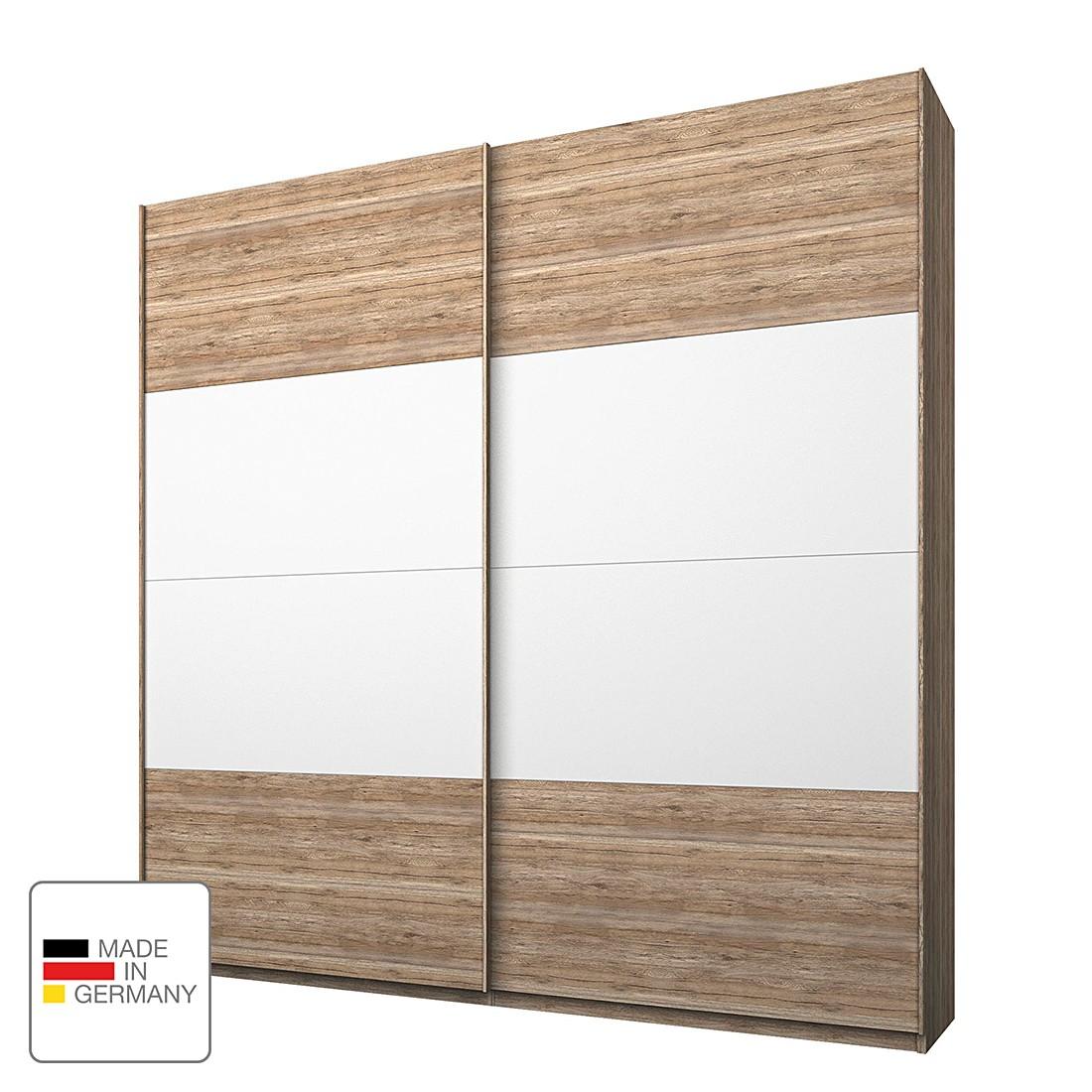 kleiderschrank lea eiche sanremo hell dekor alpinwei 250 cm 5 t rig eiche sanremo dekor. Black Bedroom Furniture Sets. Home Design Ideas