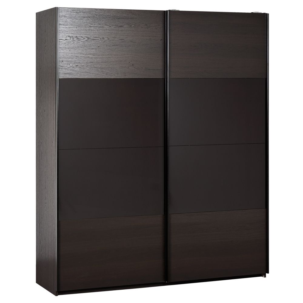 schwebet renschrank leno eiche braun dekor mokka hochglanz 180cm breite. Black Bedroom Furniture Sets. Home Design Ideas