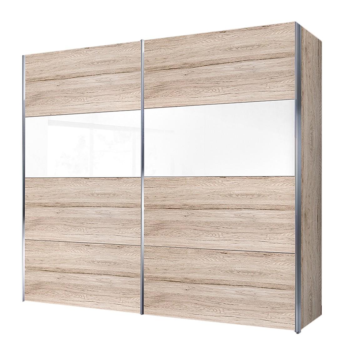 Schwebetürenschrank Louisville – Sanremo Eiche Dekor/Weißlack – BxH: 200 x 216 cm -2-türig, Solutions günstig bestellen